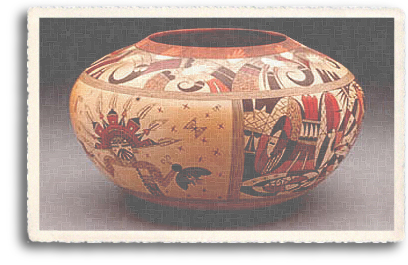 A beautiful example of the kind of authentic hand-crafted pottery that can be found each year at the world famous Indian Market in downtown Santa Fe, New Mexico.
